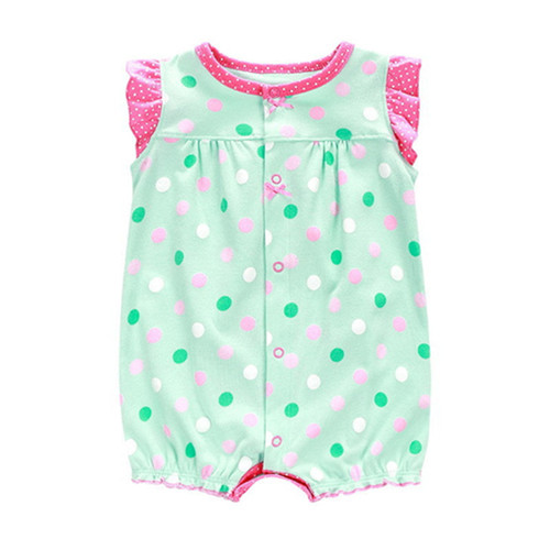 2018 Summer Newborn Cotton Baby Girls Clothes Cute Cartoon Animal Baby Rompers Infant Toddlers Short Sleeve Jumpsuit Costumes