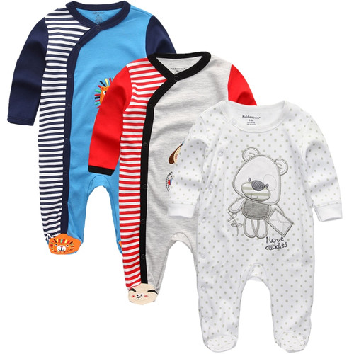 Newborn winter clothes 2/3pcs baby boys girls rompers pattern long Sleeve clothing roupas infantis menino Overalls custome