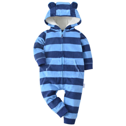2018 winter bebes clothes girls romper infants pajamas fleece baby jumpsuit hooded baby fox clothing toddler boys warm clothes