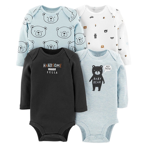 6pcs baby girl rompers 2018 newborn baby clothes long sleeve clothing romper baby jumpsuit cute rabbit pattern baby costume set