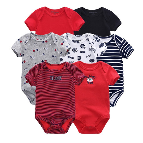7 PCS/lot newborn baby clothes baby rompers short sleeve baby jumpsuit boy girls roupa de bebe Baby boy girl Clothing
