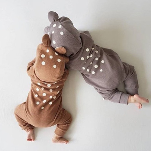 Baby Rompers Autumn Long Sleeve Newborn Baby Boy Girl Bear Toddler Jumpsuit Romper Baby Clothes Hooded 2018 Cute Clothing 2Yrs