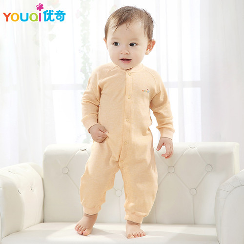 YOUQI Colored Cotton Baby Rompers Baby Boy Clothes 3 6 Months Autumn Toddler Infant Jumpsuit Clothing Spring Baby Girl Clothes