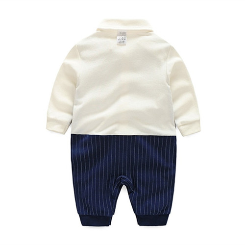 Baby Boy Rompers Cotton Bow Tie Gentleman Party Clothing Spring Toddler Prince Costume Infant Jumpsuits Newborn Boys Clothes
