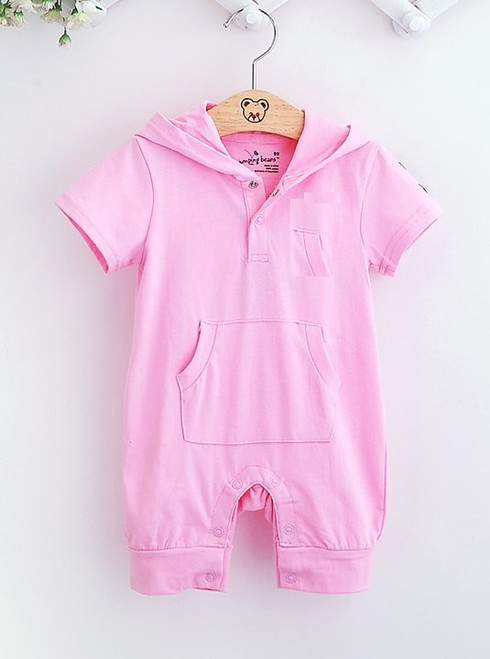 Hooded Baby Girls Rompers Shortalls Toddler Romper 100% Cotton new born baby girls infant-clothing jumpsuit