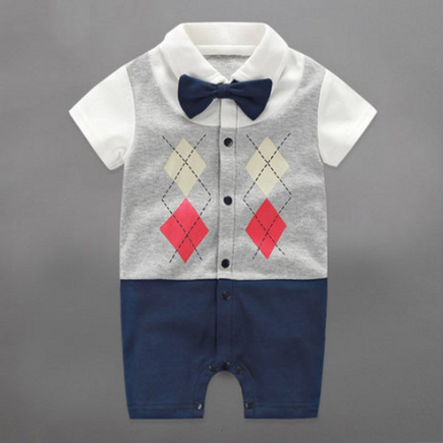 Newborn Clothing Baby Boy Clothes Bow Tie Baby Jumpsuits Roupas Bebe Little Gentleman Baby Boy Rompers 1 Year Birthday Gift