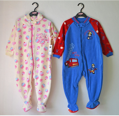 2018 New Arrival Child Polar Fabric One Piece Sleepwear Derlook Romper Spring And Autumn Of Small Male Female Baby Plus Size
