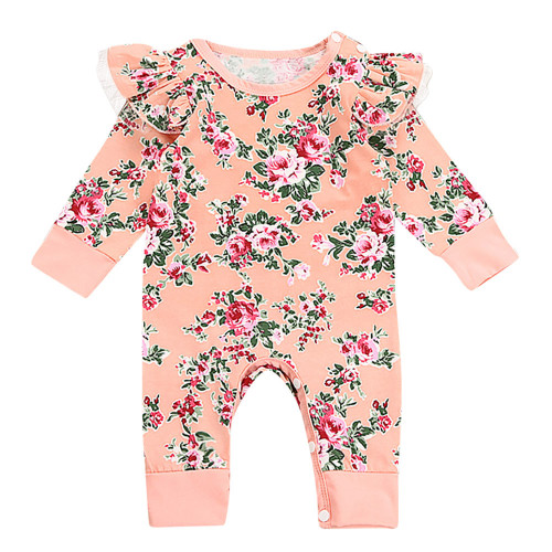 2018 Autumn and winter seasonToddler Baby Newborn Girls Floral Print Romper Jumpsuit Clothes  Great idea for a baby top