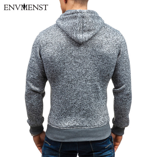 2017 Envmenst Hoodies Men Brand Male Hooded Sweatshirt Mens Zipper Moletom Masculino Hoodie Slim Tracksuit Large Size XXL