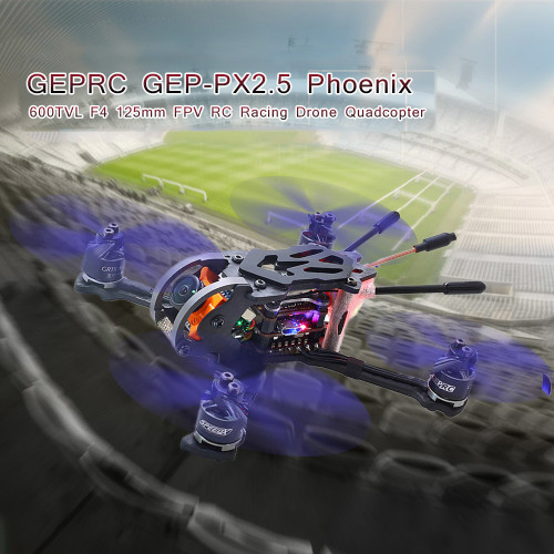 GEPRC GEP-PX2.5 Phoenix 600TVL Drone with Camera 125mm FPV RC Racing Dron RC Quadcopter w/ Frsky Receiver BNF