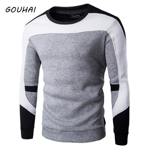 2017 Spring Mens Hoodies Streetwear M-XXL Casual Male Tracksuit Hooded Sweatshirt Men Brand O-neck Patchwork Hoodies Men Autumn