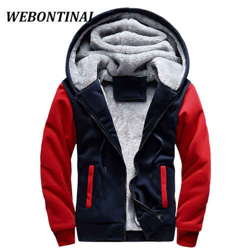 WEBONTINAL Hot Sale 2017 Winter Jacket Men Jackets Male Hooded Coats Quality Zipper Casual Brand Thicken Velvet Warm Tracksuit