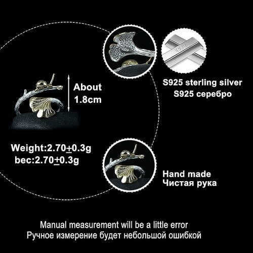 LARGERLOF Real 925 Sterling Silver Ring Women Fine Jewelry Handmade Flower Rings For Women  RG35061