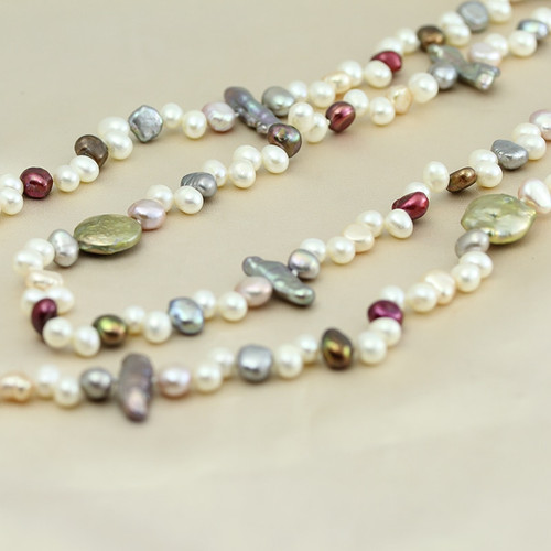 Pearl jewelry,long real natural freshwater pearl necklace wedding women,mother pearl necklace 190cm-200cm girl gifs