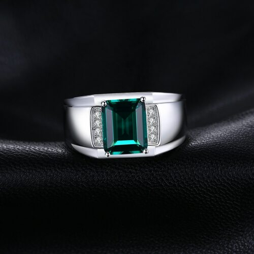 Jewelrypalace Men Luxury 2.7ct Created Emerald Anniversary Wedding Ring Genuine 925 Sterling Sliver 2018 New Ring