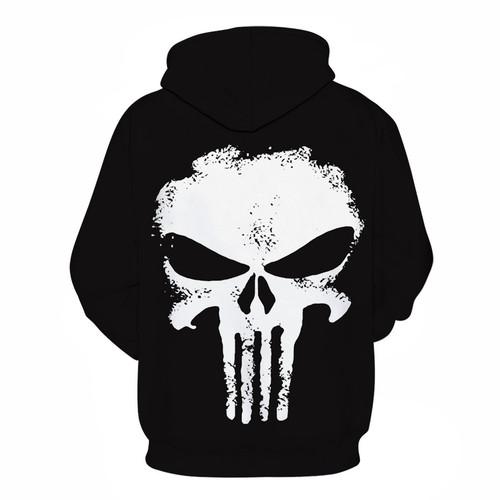 Punisher Hoodies Women Men 3D Sweatshirts Superhero Pullover Novelty Tracksuit Fashion Hooded Streetwear Autumn Casual Jacket