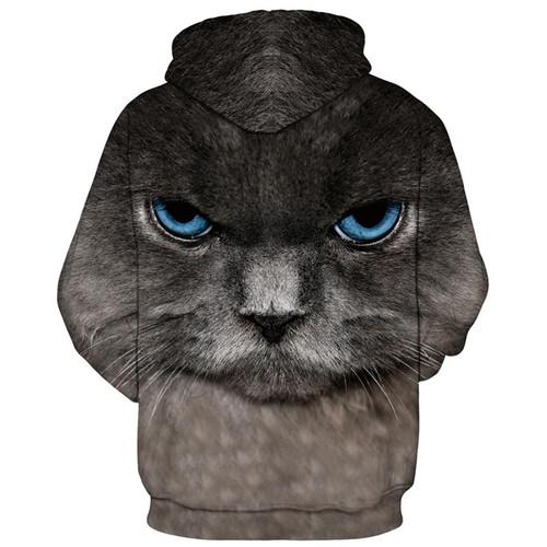 Mr.1991INC Tracksuit Hoody Tops Men/Women 3d Sweatshirts Print Big Blue Eyes Cat Hooded Hoodies Thin Style Pullovers