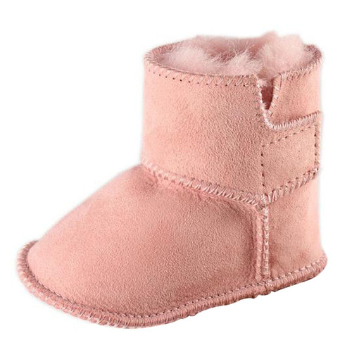 JOYHOPY winter baby First Walkers infants warm shoes Faux fur girls baby booties Leather boy baby boots