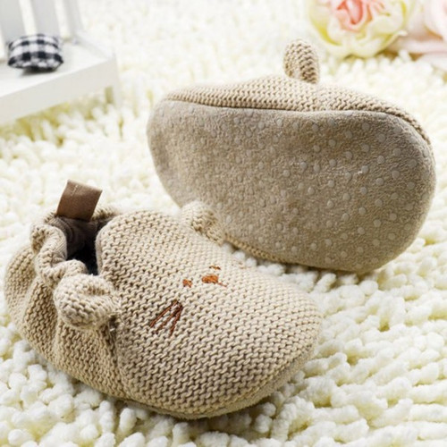 Infant Toddler Kids Shoes Baby Knit Soft Crib Shoes born Boy Girl Cartoon Shoes
