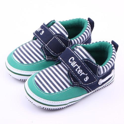 Handsome Newborn Baby Boys Girls Shoes Prewalkers Infant Toddler Kids Stripe Soft Soled Anti-slip Bebe Crib First Walkers Shoe