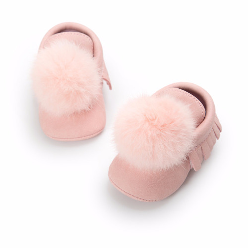 Fashion Newborn Boy Girl Baby Moccasins Soft Moccs Shoes Toddler Infant First Walkers Bebe Fringe Soft Soled Boots PU Leather
