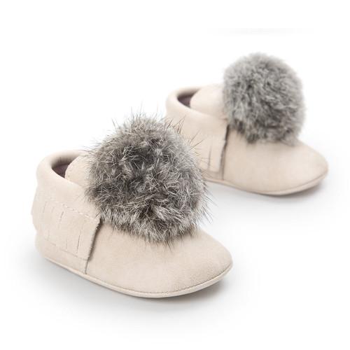 2018 Brand Newborn Baby Girls Pom Pom Shoes Cute Boots Warm Slippers Crib Shoes