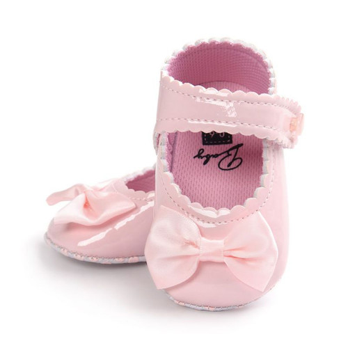 Autumn Infant Baby Soft Sole PU Leather First Walkers Crib Bow Shoes Baby Moccasins Shoes