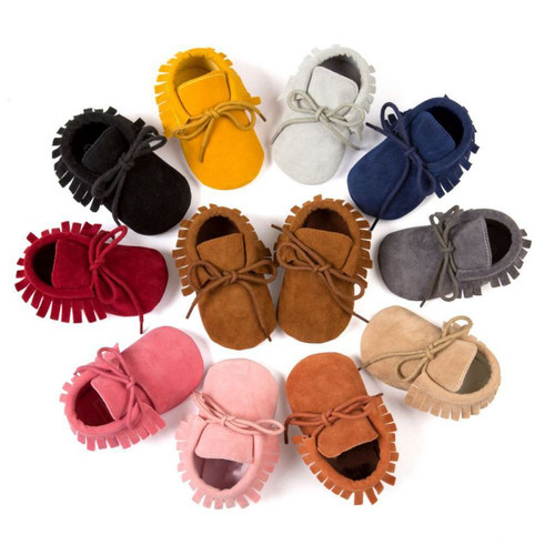 Baby Shoes PU Suede Leather Newborn Baby Boy Girl Moccasins Soft Shoes Bebe Fringe Soft Soled Non-slip Footwear Crib Shoes New