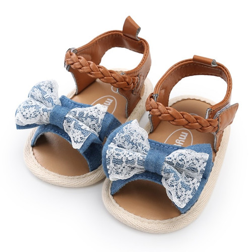 WEIXINBUY Soft Sole PU Baby girls Canvas bow First Walkers Shoes Fashion summer Prewalkers First walker toddler moccasins