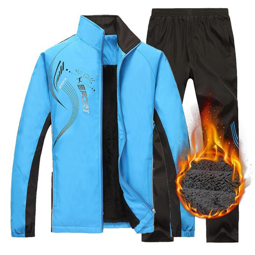 EU Casual Sporting Suit Men Warm Hooded Tracksuit Polo Men's Sweat Suits Set Zipper Grey Elastic Waist Print Large Size 4XL