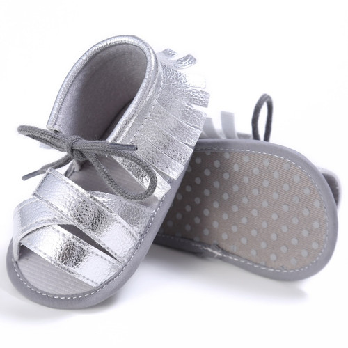 Summer Tassel Baby Shoes Soft Non-slip Crib Shoes Moccasin Sandal Baby Girls Sandals 0-18M