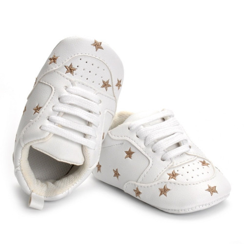 PU Leather Baby Shoes Soft Bottom Infant First Walkers Spring Autumn Star Baby Boy Sneaker Shoes