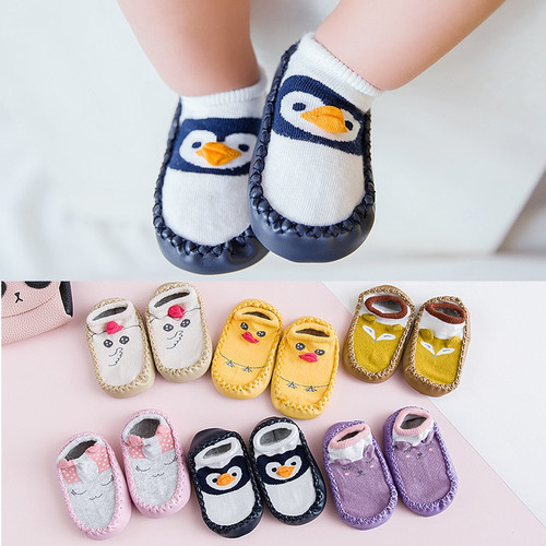 2018 Spring New Cotton Cartoon Baby Socks Kids Non-slip Floor socks Baby Moccasins Baby First Walker Shoes Toddler Socks Shoes