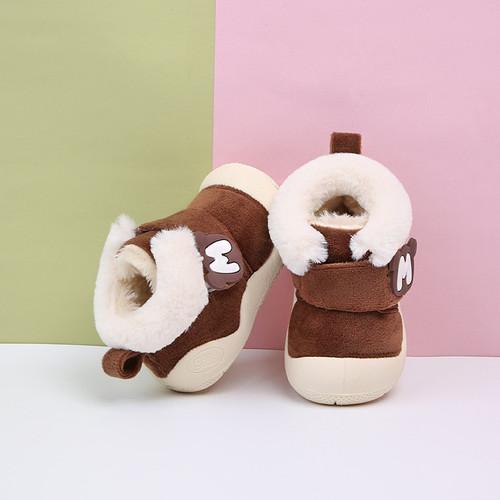 2018 Winter Baby Girl Boy Snow Boots Thicken Plush Infant Newborn Toddler Boots Soft Bottom Non-slip Kids Children Boots Shoes