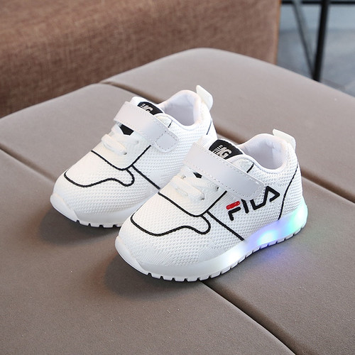 Lovely cute LED lighted infant tennis fashion baby shoes solid cool classic baby sneakers hot sales casual girls boys shoes