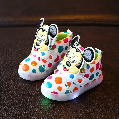 Spring/Autumn Hook&Loop baby casual shoes high quality dots baby boots fashionable boys girls shoes Lovely infant tennis