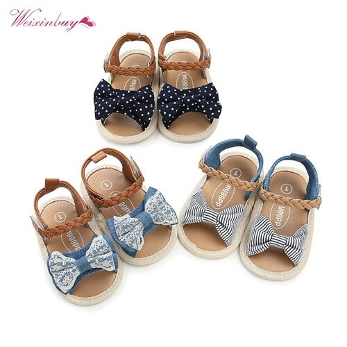 Baby Girls Shoes Soft Sole PU Baby Shoes Canvas Bow First Walkers Summer Prewalkers First walker Toddler moccasins