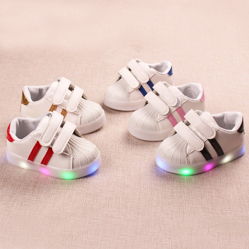 2018 All season cool slip on baby casual shoes LED lighted glowing flash baby sneakers cool solid baby girls boys shoes