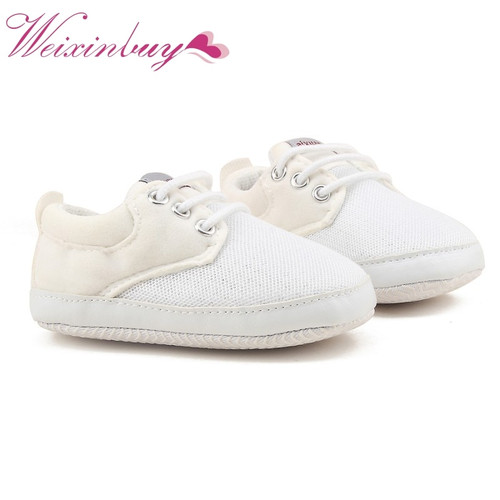Spring Autumn Baby Boy Soft Sole Shoes Infant Canvas Newborn Baby Boy Shoes First Walkers Crib Shoes 0-18 Months