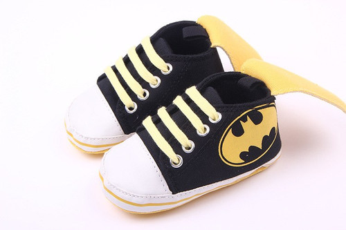 2017 New Fashion Cute Cartoon Superman Batman Spring Autumn Infant Toddler Crib Babe Boy Girl First Walkers Newborn Kids Shoes