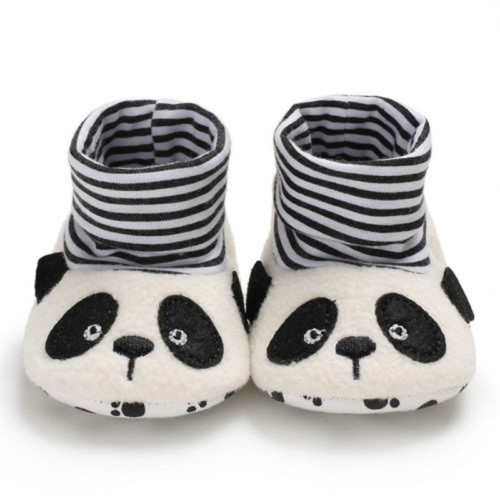 Kids Infant Baby Boy Girl Soft Cartoon Anti-Skid Lace Floral Baby Booties Sock Slipper Shoes Foot Socks Tiger Panda Star Cat