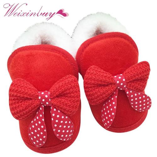 2017 Baby Girls Shoes Toddler First Walker Warm Winter Boots Soft Sole Prewalker Hot Selling