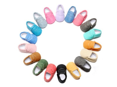2018 New Style PU Leather Denim Baby Moccasins Shoes First Walker Girls Boys Shoes Toddler baby Soft Sole shoes