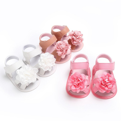 Sweet Baby Girls Big Flower Prewalkers Shoes Crib Bebe Princess First Walkers Infant Toddler Soft Soled Shoe For Newborn