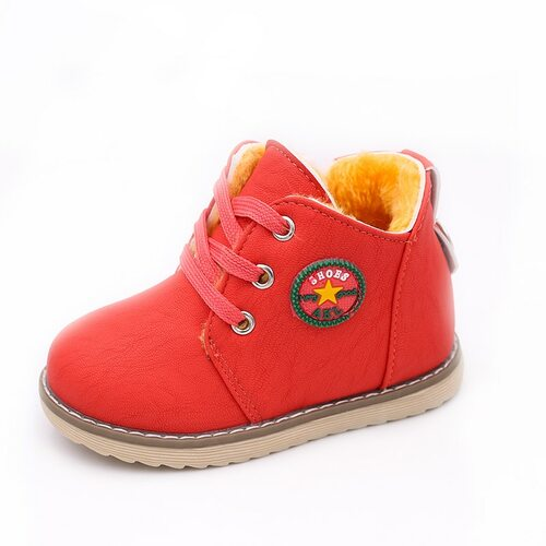 Top Selling Kids Boys Shoes Classic Boys Martin Boots Winter Warm Sport Casual Baby Girls Shoes Soft Zip Plush Boots For Boys