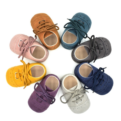Hot Sale Baby Shoes Newborn Toddler Shoes 8 Color 2018 New Infant Solid PU Baby Anti-slip Sneakers Baby Boy Girls Shoes S2