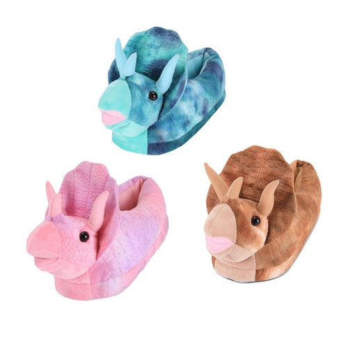 Children Cotton Shoes Kids Home Slippers Boys And Girls Baby Cute animal dinosaur Plush Ball Thickening Warm Indoor Shoes