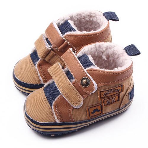 Winter Newborn Baby Boys Shoes Warm First Walker Infants Boys Antislip Boots Children Shoes New Arrival