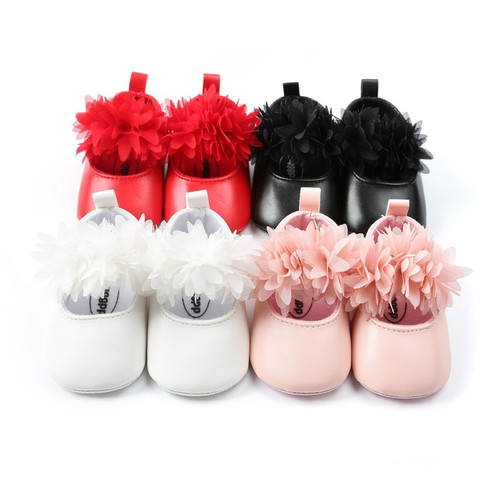 2018 Baby Shoes PU leather infant baby moccains soft sloe toddler girls shoes mary jane party shoes first walkers Floral