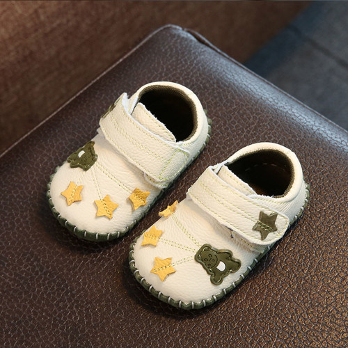 Baby Leather Shoes Newborn Soft Bottom Summer Girls Toddler  Soft Bottom Cute Princess Baby Leaf Pattern Shoes YD542R